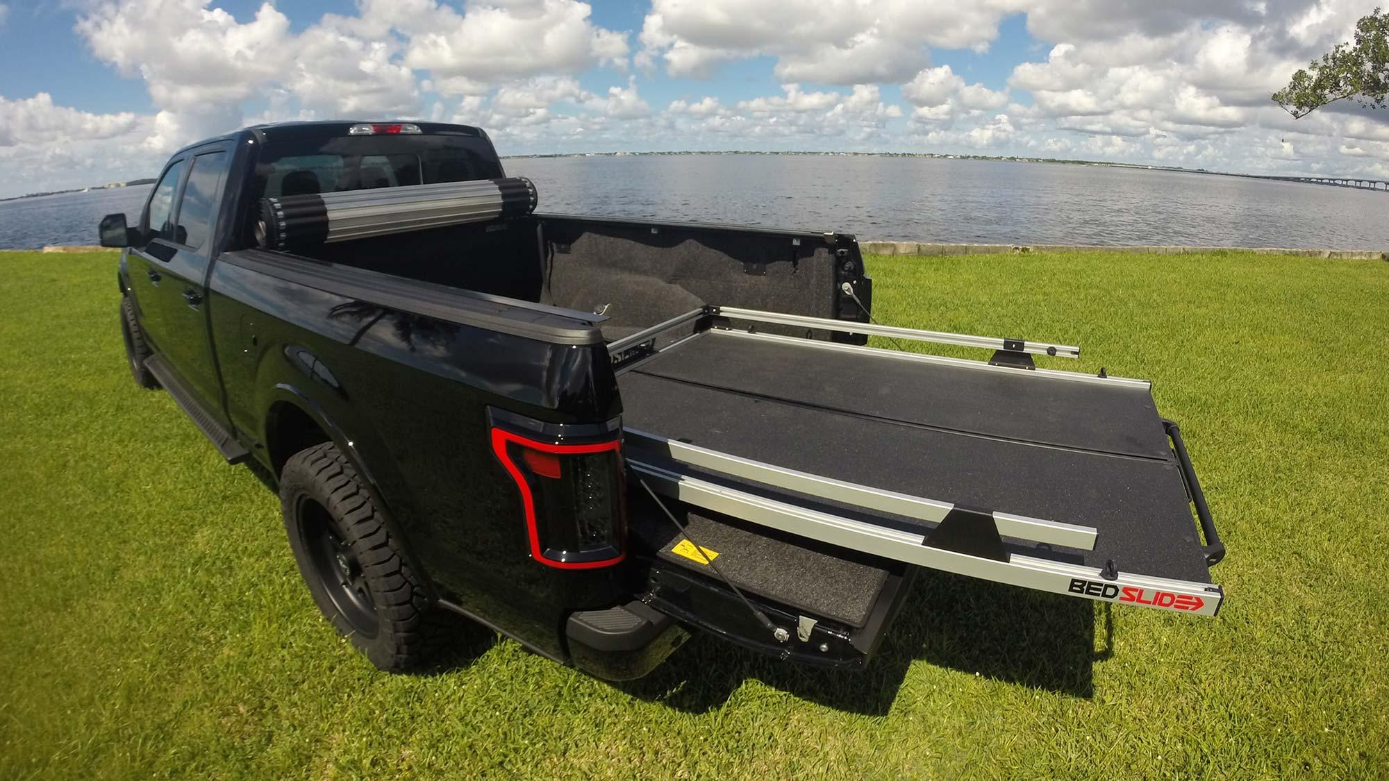 Black car with bedslide